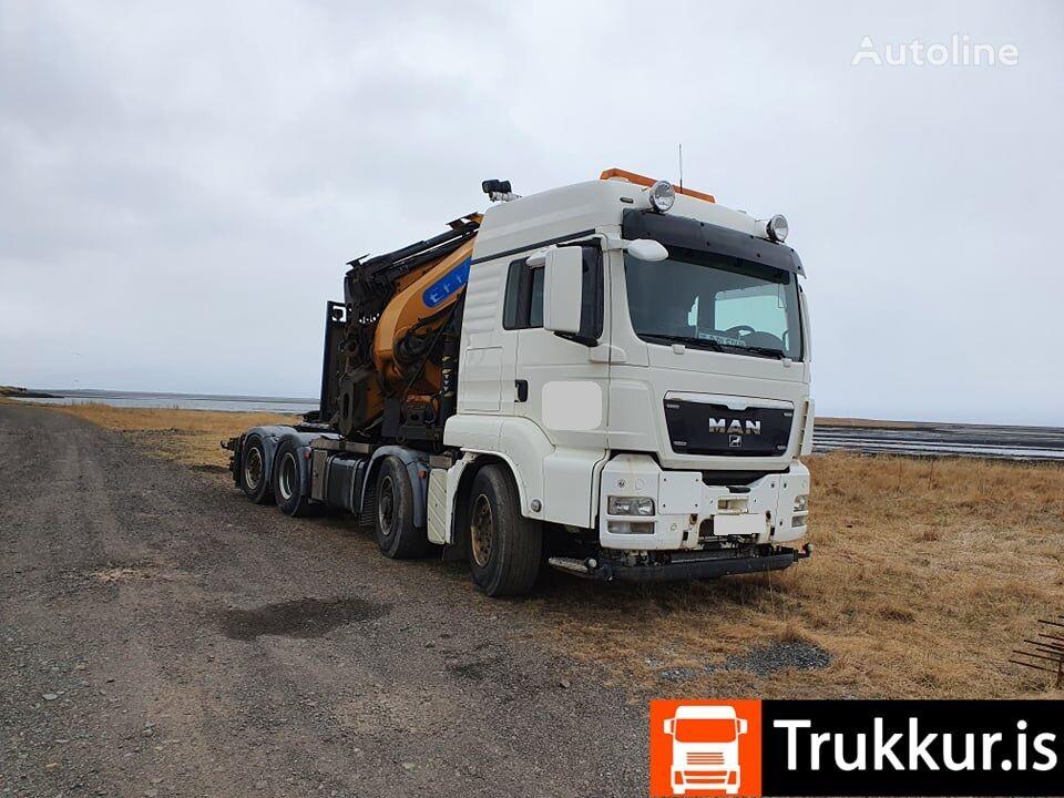 MAN TGS 35.480 8x4 Hydrodrive Effer 1355 tractor unit